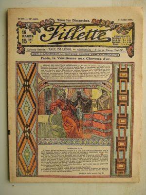 FILLETTE (SPE) N°591 (6 juillet 1919) Paola la Vénitienne aux cheveux d'or (Janko) Malheur réparé (Louis Forton)