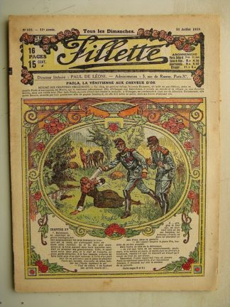 FILLETTE (SPE) N°592 (13 juillet 1919) Paola la Vénitienne aux cheveux d'or (Janko) La crêpe volante (Thomen)