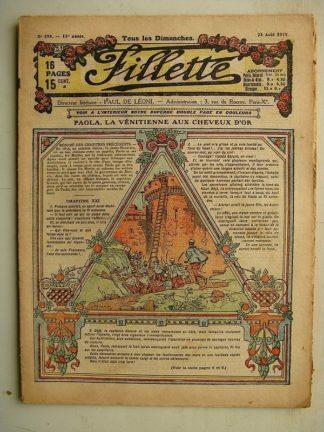 FILLETTE (SPE) N°598 (24 août 1919) Paola la Vénitienne aux cheveux d'or (Janko) Pour porter Lolo (Louis Forton)
