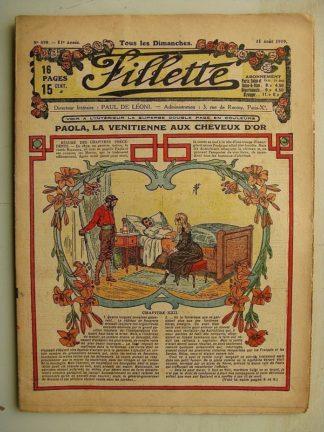 FILLETTE (SPE) N°599 (31 août 1919) Paola la Vénitienne aux cheveux d'or (Janko) Idée géniale (Nicholson) Le baron des Adrets