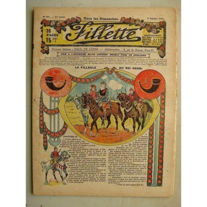 FILLETTE (SPE) N°604 (5 octobre 1919) La filleule du roi Henri (Rolno - Paul Daroy) Adieux de Jeanne d'Arc (Alphonse Crozière)