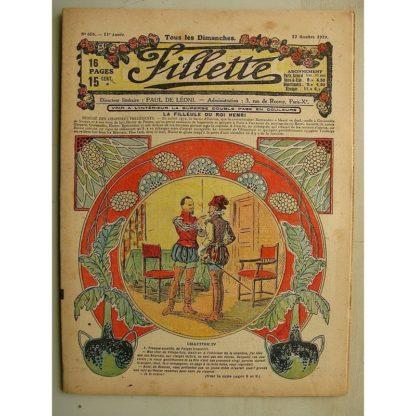 FILLETTE (SPE) N°605 (12 octobre 1919) La filleule du roi Henri (Rolno - Paul Daroy) Les facéties de Ninette (Harry Gonel)