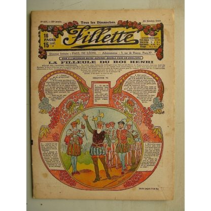 FILLETTE (SPE) N°607 (26 octobre 1919) La filleule du roi Henri (Rolno - Paul Daroy) Une bonne prise (Harry Gonel)