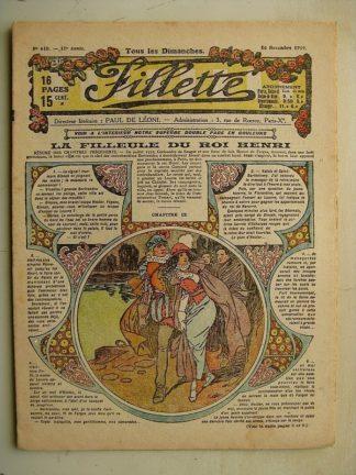FILLETTE (SPE) N°610 (16 novembre 1919) La filleule du roi Henri (Rolno - Paul Daroy) Le bonheur d'être riche (Janko)