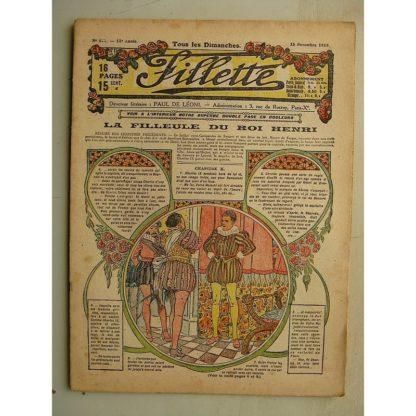 FILLETTE (SPE) N°611 (23 novembre 1919) La filleule du roi Henri (Rolno - Paul Daroy) Le photographe amateur (Harry Gonel)