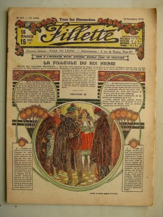 FILLETTE (SPE) N°612 (30 novembre 1919) La filleule du roi Henri (Rolno - Paul Daroy) Rosette de Vauville (nouvelle)