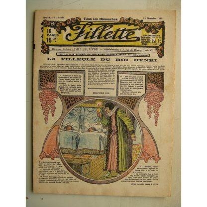 FILLETTE (SPE) N°614 (14 décembre 1919) La filleule du roi Henri (Rolno - Paul Daroy) La chèvre de Mme Magloire (Harry Gonel)