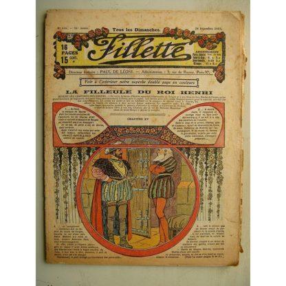 FILLETTE (SPE) N°616 (28 décembre 1919) La filleule du roi Henri (Rolno - Paul Daroy) Tout va bien (Harry Gonel)