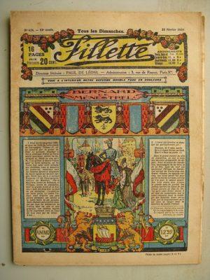FILLETTE (SPE) N°624 (22 février 1920) Bernard le ménestrel (dessins de Janko- Texte de S. Moureu) Une erreur (Louis Forton)