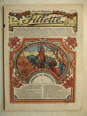 FILLETTE (SPE) N°632 (2 mai 1920) Bernard le ménestrel (Janko) Le rêve de Médor (E. Nicolson)