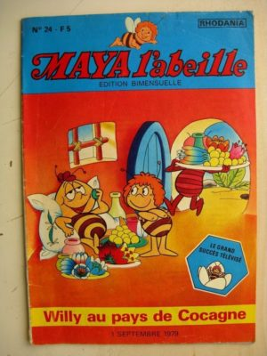 MAYA L'abeille n°24 Willy au pays de Cocagne (Rhodania 1979)