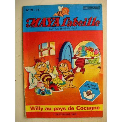 MAYA L'abeille n°24 Willy au pays de Cocagne (Rhodania 1979)