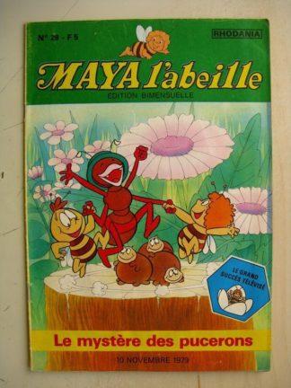 MAYA L'abeille n°29 Le mystère des pucerons (Rhodania 1979)