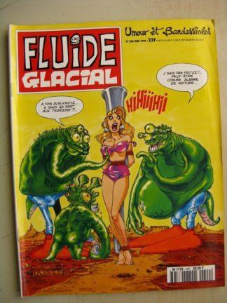 FLUIDE GLACIAL N°240 (Juin 1996) Goosens/Blutch/Léandri/Lamorthe/Frémion/Coyote/Stan et Vince