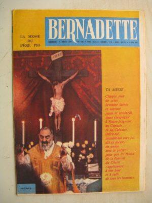 BERNADETTE N°198 (10 avril 1960) Marco Polo (Pierdec) Moustache et Trottinette (Calvo) Printemps dans un jardin (Edith Follet)