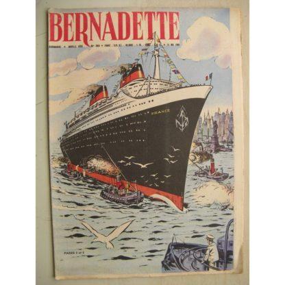 BERNADETTE N°203 (15 mai1960) Moustache et Trottinette (Calvo) Le paquebot France - Mystère à Palomba (Janine Lay)