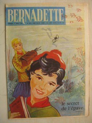 BERNADETTE N°222 (25 septembre 1960) Moustache et Trottinette (Calvo) Rosamée aux yeux clos (Manon Iessel)