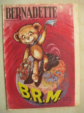BERNADETTE N°223 (2 octobre 1960) Moustache et Trottinette (Calvo) Rosamée aux yeux clos (Manon Iessel - Isabelle Gendron)