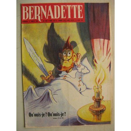 BERNADETTE N°228 (6 novembre 1960) Moustache et Trottinette (Calvo) Rosamée aux yeux clos (Manon Iessel - Isabelle Gendron)
