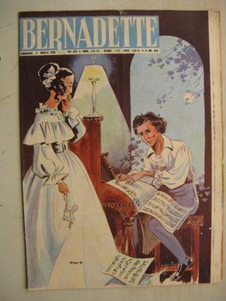 BERNADETTE N°231 (27 novembre 1960) Moustache et Trottinette (Calvo) Rosamée aux yeux clos (Manon Iessel - Isabelle Gendron) Fré