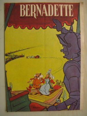 BERNADETTE N°233 (11 décembre 1960) Moustache et Trottinette (Calvo) Rosamée aux yeux clos (Manon Iessel – Isabelle Gendron)