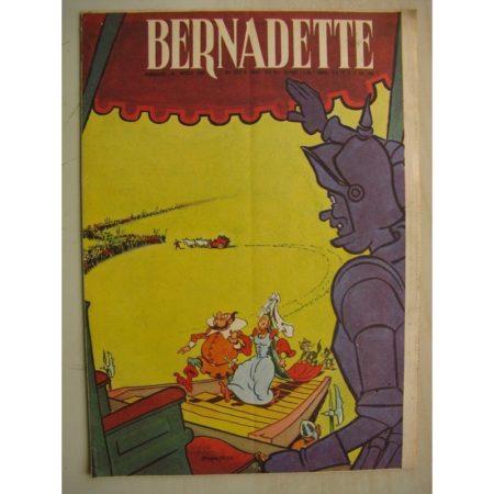 BERNADETTE N°233 (11 décembre 1960) Moustache et Trottinette (Calvo) Rosamée aux yeux clos (Manon Iessel - Isabelle Gendron)