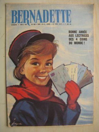BERNADETTE N°236 (1er janvier 1961) Moustache et Trottinette (Calvo) Rosamée aux yeux clos (Manon Iessel - Isabelle Gendron)