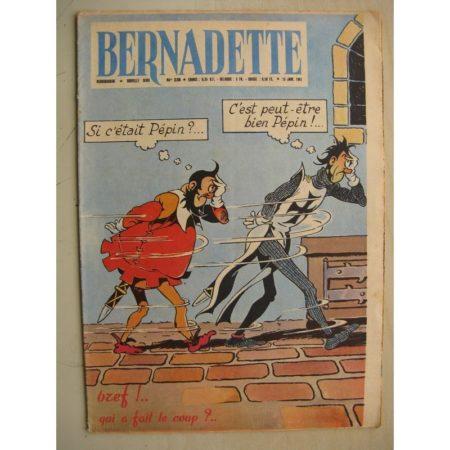 BERNADETTE N°238 (15 janvier 1961) Moustache et Trottinette (Calvo) Point de Bretagne (légende) Rosamée aux yeux clos (M Iessel)