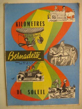 BERNADETTE N°242 (12 février 1961) Moustache et Trottinette (Calvo) Pluie d'étoile (J. Janvier) Rosamée aux yeux clos (M Iessel)