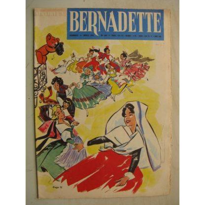BERNADETTE N°245 (5 mars1961) Moustache et Trottinette (Calvo) Pluie d'étoile (J. Janvier) Rosamée aux yeux clos (M Iessel)