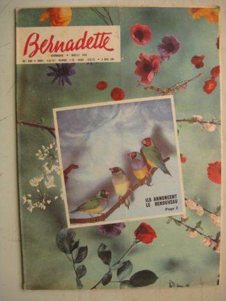 BERNADETTE N°250 (26 mars 1961) Moustache et Trottinette (Calvo) Deux fables espagnoles (Julio Ribera) Jules Verne (Jan-Loup)
