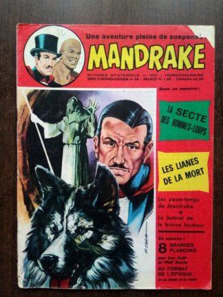 MONDES MYSTERIEUX - MANDRAKE N°390 - REMPARTS 1973 (sans planches)