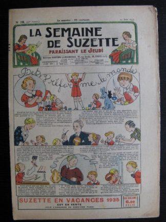 La Semaine de Suzette 31e année n°28 (13/06/1935) - Betsy réorme le monde (Bécassine)