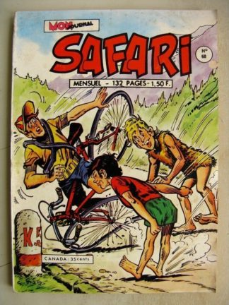 SAFARI N° 68 Katanga Joe - Chasse au Prof (Mon Journal 1973)
