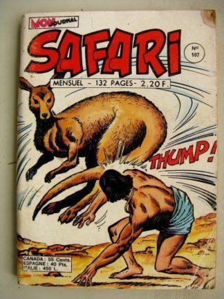 SAFARI N° 107 Katanga Joe - Les Singes parlants - Kid Pharaon - L'Australie (Mon Journal 1976)