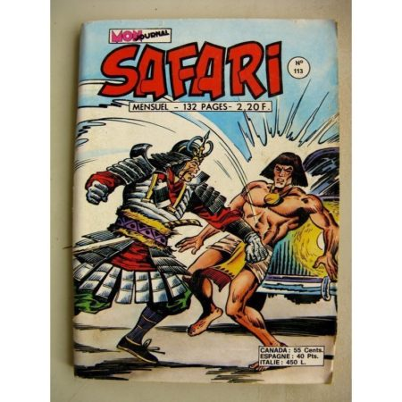 SAFARI N° 113 Katanga Joe - Le Roi Farceur - Kid Pharaon - Thor le Viking (Mon Journal 1977)