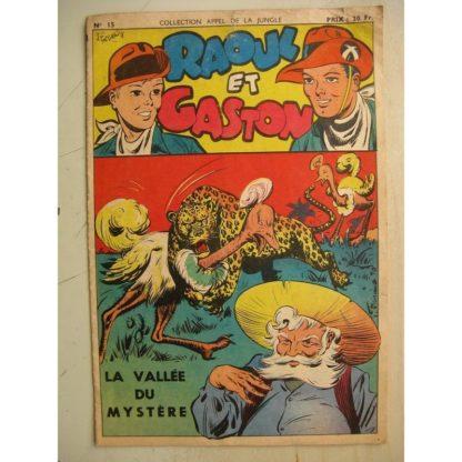COLLECTION APPEL DE LA JUNGLE N°15 - RAOUL ET GASTON (la vallée du mystère) SAGE 1950