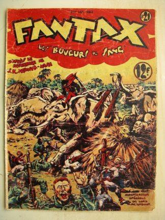 FANTAX N°21 Les buveurs de sang (Chott) Editions Pierre Mouchot 1947