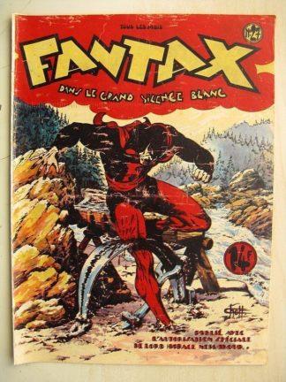 FANTAX N°27 Dans le grand silence blanc (Chott) Editions Pierre Mouchot 1948