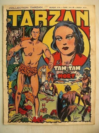 COLLECTION TARZAN N°55 Le Tam Tam de la mort - Editions Mondiales 1948