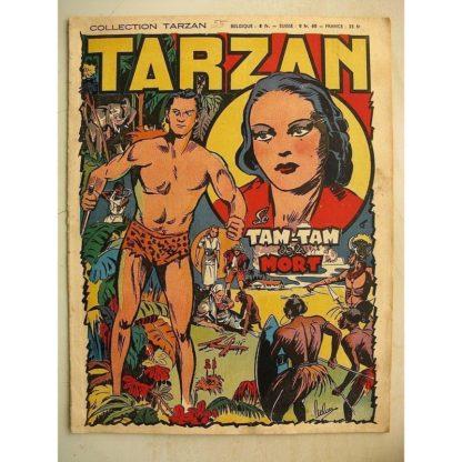 COLLECTION TARZAN N°55 Le Tam Tam de la mort - Editions Mondiales 1948