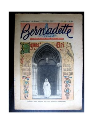 BERNADETTE  n°235 (1951) Agnus Dei