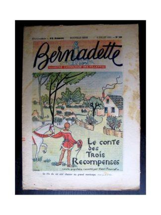 BERNADETTE n°240 (1951) Le conte des 3 récompenses