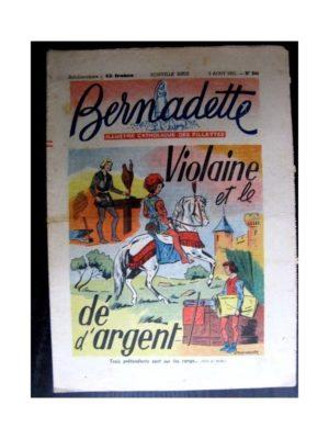 BERNADETTE  n°244 (1951) Violaine et le dé d'argent
