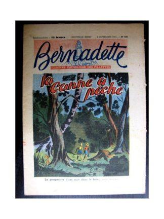 BERNADETTE n°248 (1951) La canne à pêche