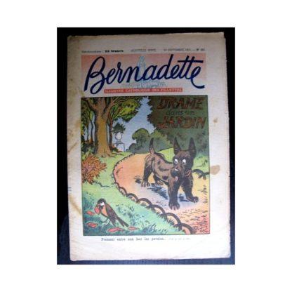 BERNADETTE n°251 (1951) Drame dans un jardin