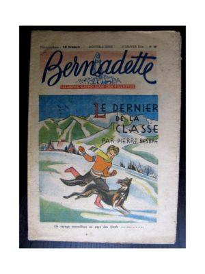 BERNADETTE  n°267 (1952) Le dernier de la classe