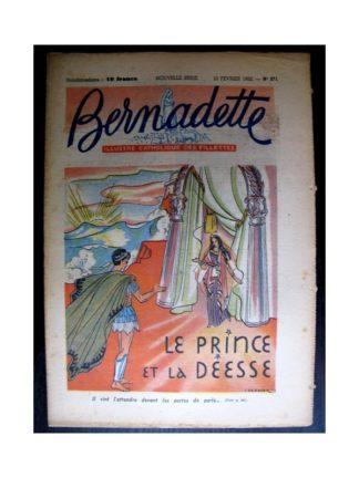 BERNADETTE n°271 (1952) Le prince et la déesse
