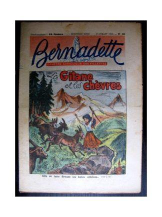 BERNADETTE n°293 (1952) La gitane et les chèvres