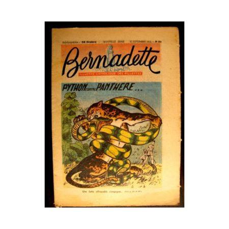 BERNADETTE n°303 (1952) PYTHON CONTRE PANTHERE